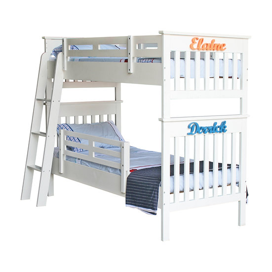 Pinto Series Bunk Bed Frame With Ladder (Super Single Over Super Single)