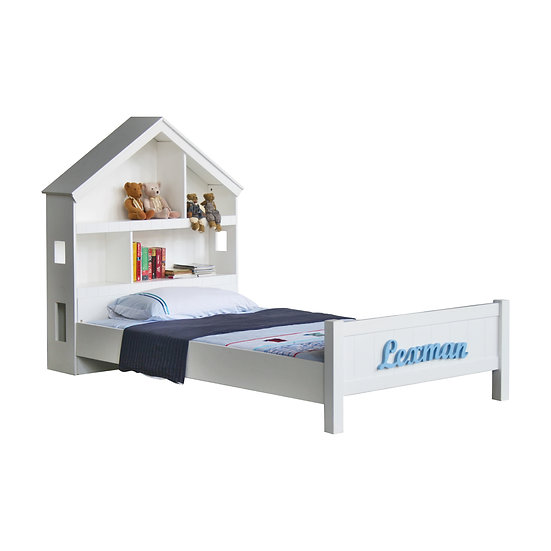 Pinto Series Dollhouse Hutch Bed Frame (Super Single)