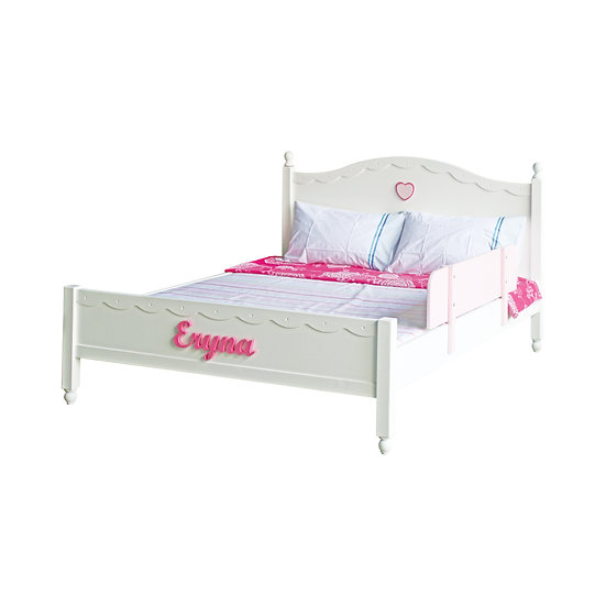 Vanilla Series Queen Bed Frame With Lower Foot Board