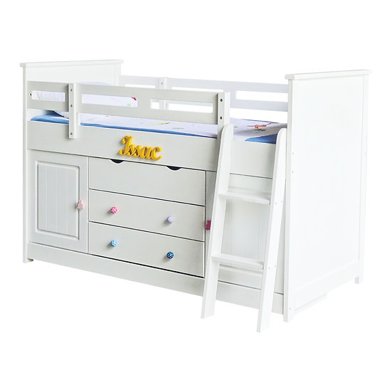 Pinto Series Midsleeper and Cabin Single Bed Frame
