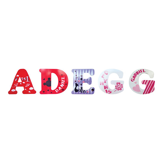 Hand-Painted Alphabet 85mm