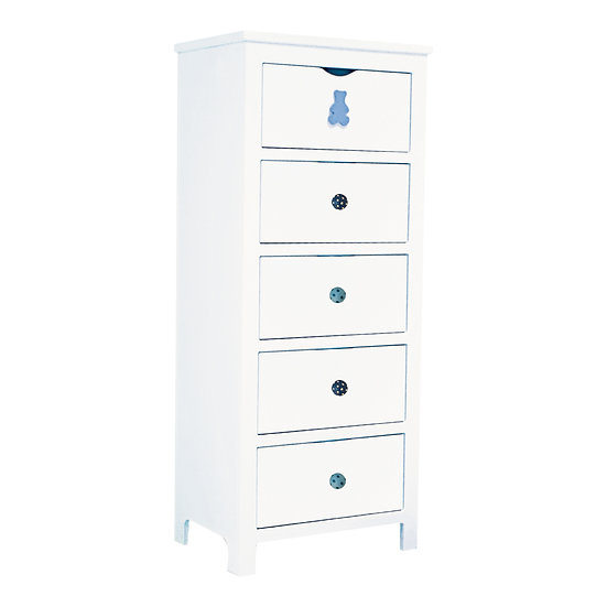Pinto Series Tall Chest With 5 Drawers