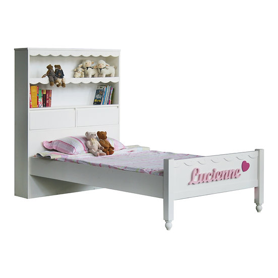 Vanilla Series Hutch Super Single Bed Frame