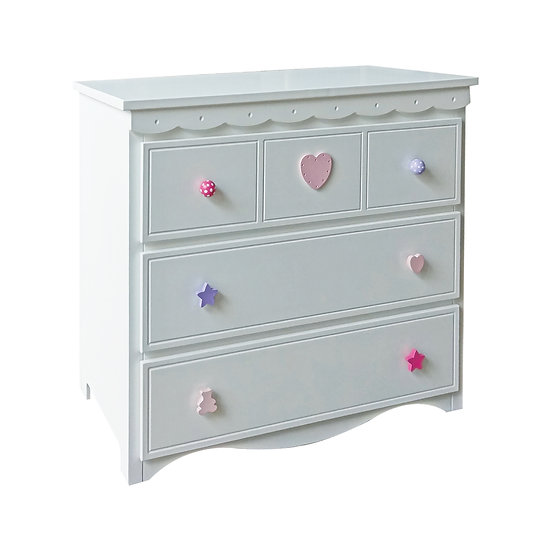 Vanilla Series Of 3 Drawer Without Extension