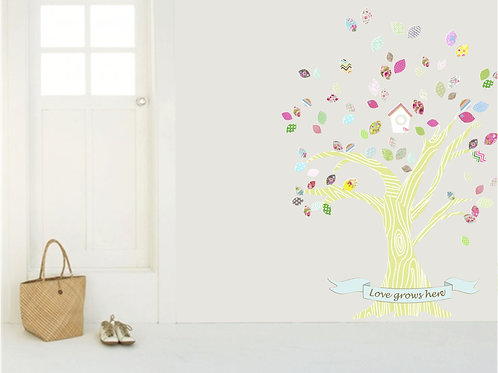 Build A Happy Tree Vinyl Decal Sticker