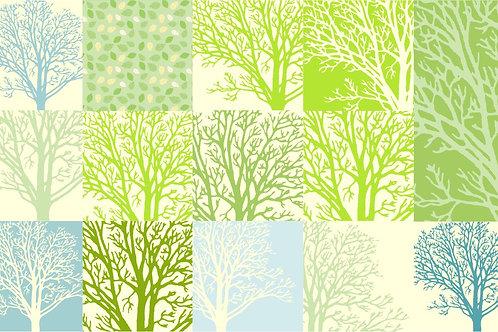 Tree patchwork long carpet Art. No. 3504