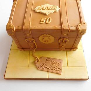 Suitcase Birthday Cake