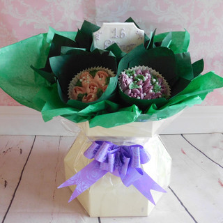 Cup Cake Bouquet Birthday Cake