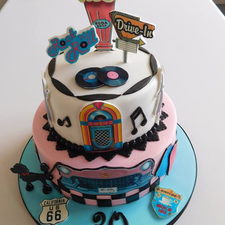 Retro Birthday Cake