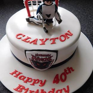 Hockey Birthday Cake