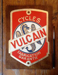Vulcain plaque vélo