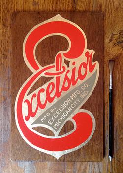 Excelsior plaque vélo