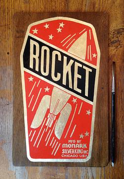Rocket plaque vélo