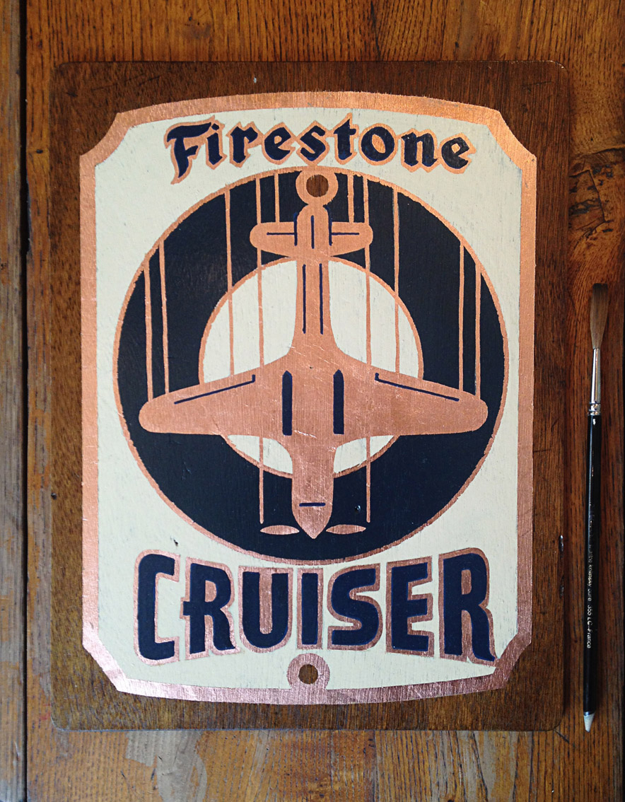 Firestone plaque vélo