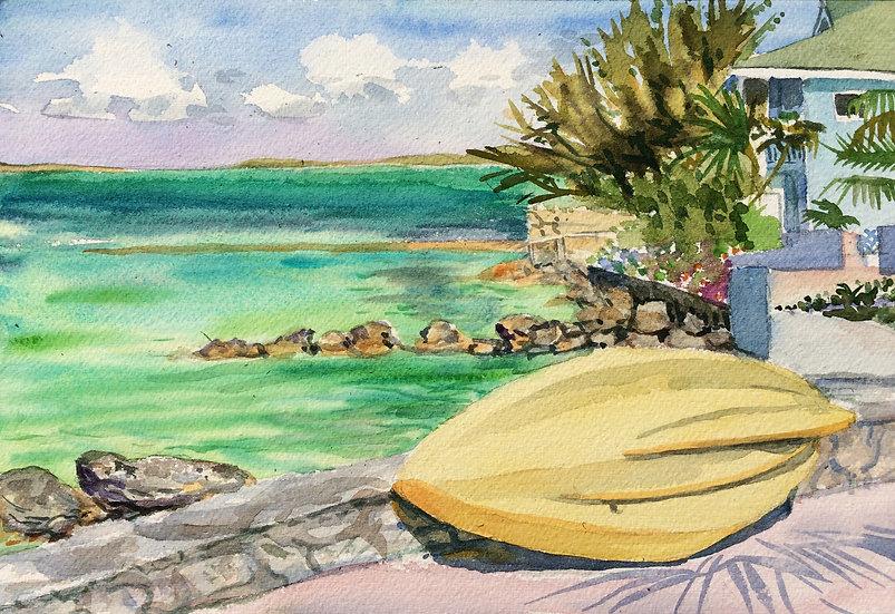 Yellow Kayak, Sugar Loaf Cay
