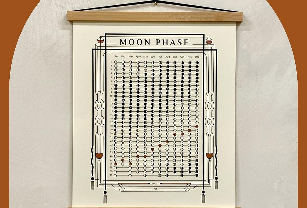 TERRACOTTA 2021 paper moon phase calendar