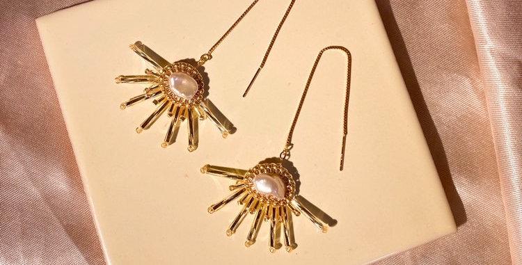 Cirrus Threader Earrings