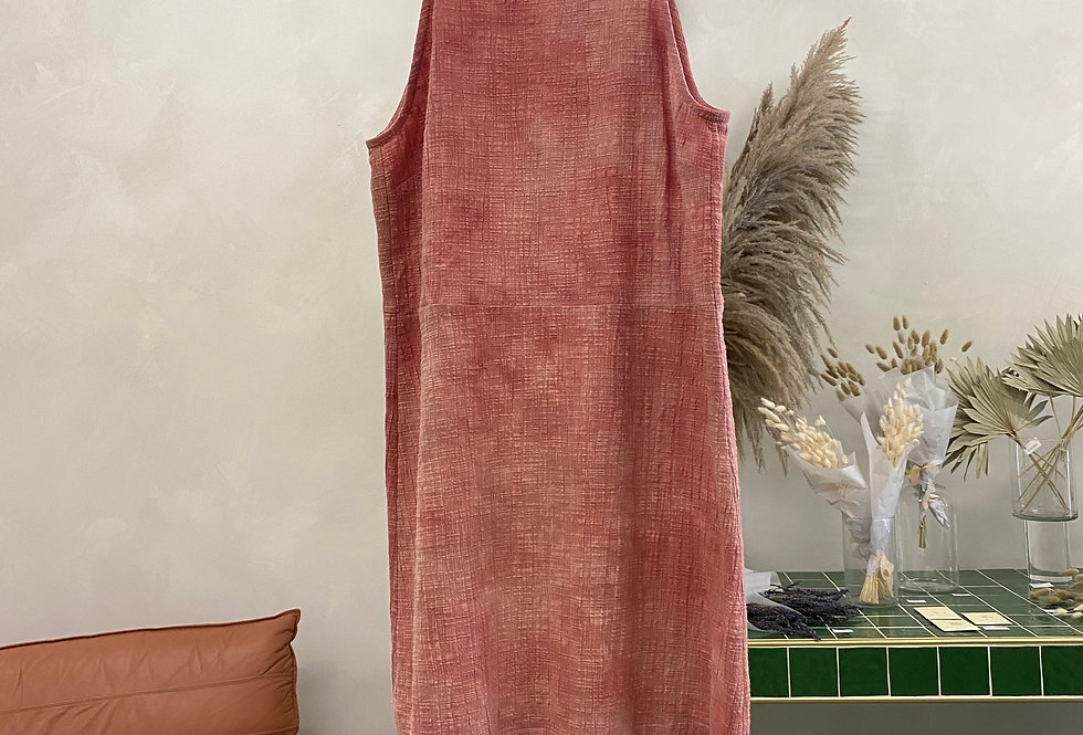Naturally Dyed Cotton Tank Dress - L