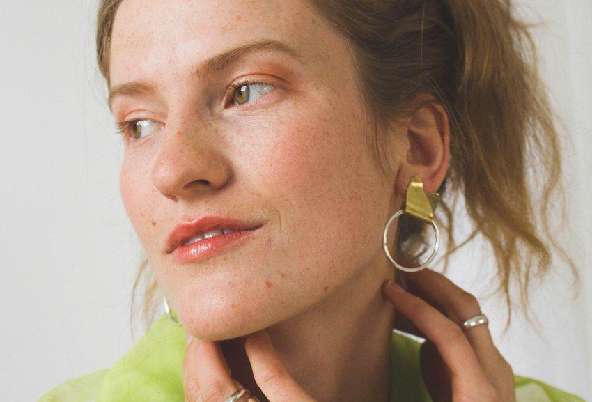 Leaf Loop Earrings - Midi