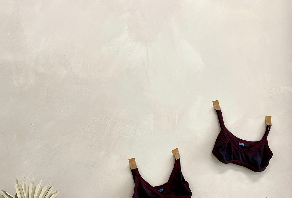 Thong - Indigo/Burgundy