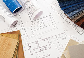 House plans and flooring samples
