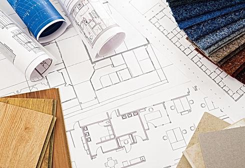 Blueprint, interior design, building