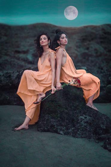 Sisters of Moon beams artistic photograp