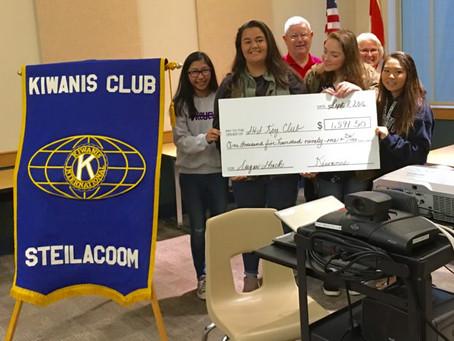 Steilacoom Key Club Raises >$1500