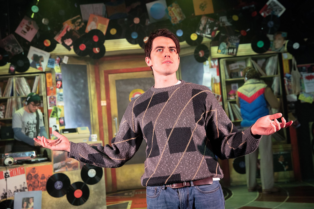 Oliver Ormson as Rob in High Fidelity. Picture: Mark Senior