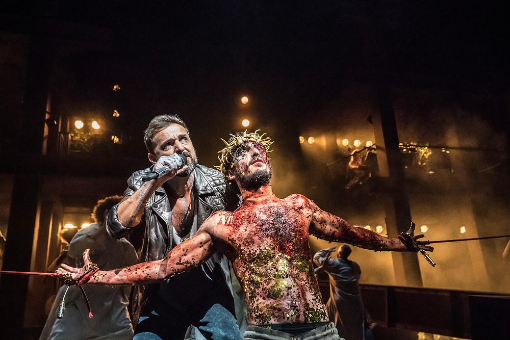 Ricardo Afonso as Judas in Jesus Christ Superstar at the Barbican Theatre. Photo: Johan Persson