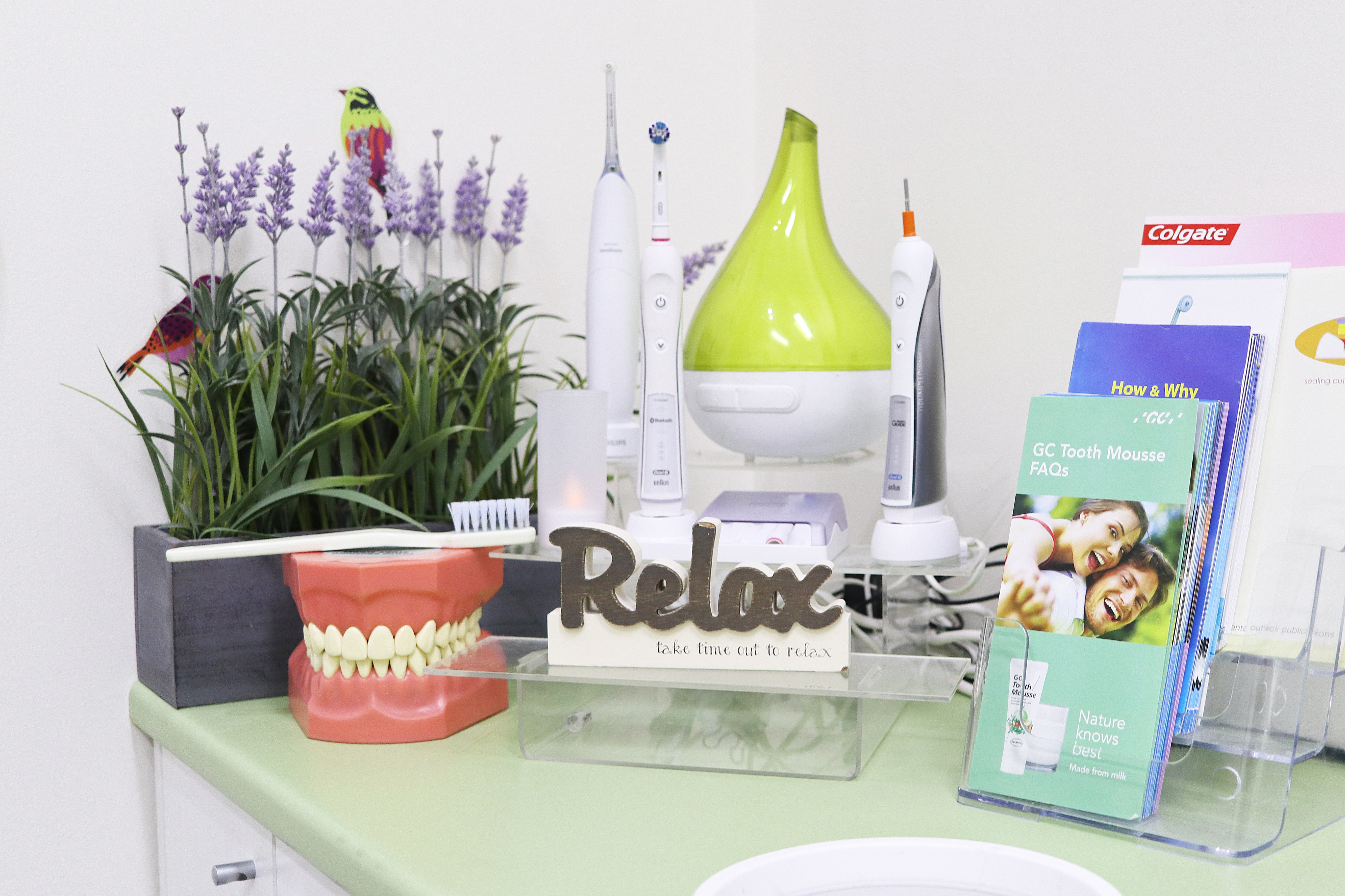 Relax at the dentist