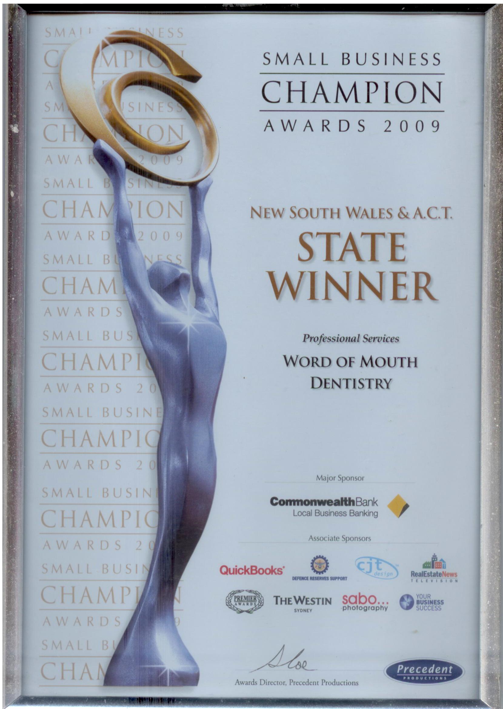 2009 State Award