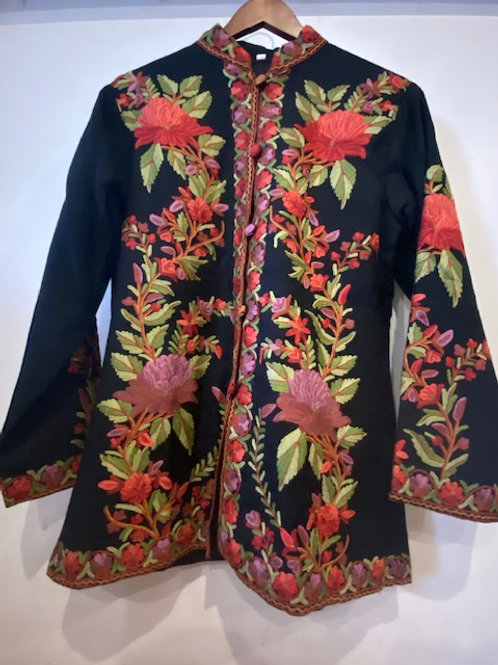 Hand Embroidered Wool Jacket