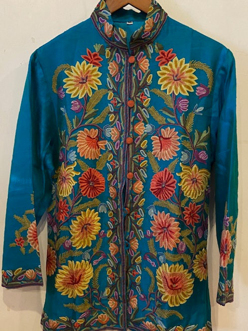 Hand Embroidered Silk Jacket