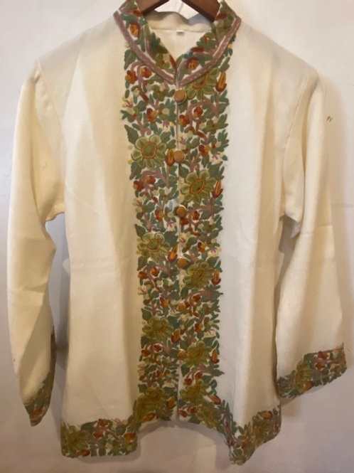 Fine Hand Embroidered Wool Jacket