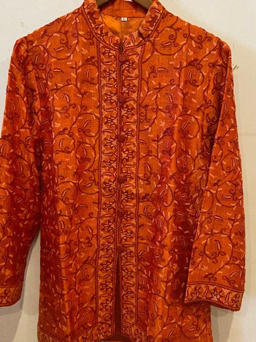 Hand Embroidered Silk Jacket