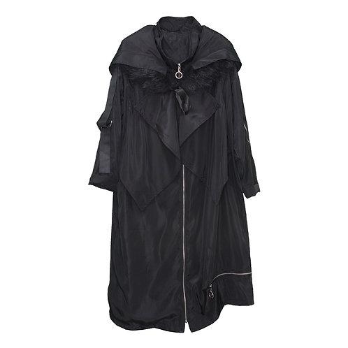 Black Long Raincoat