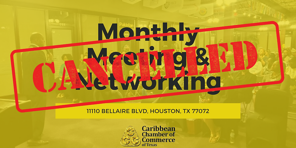 Caribbean Chamber Monthly Meeting and Networking