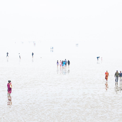 Disappearing beach