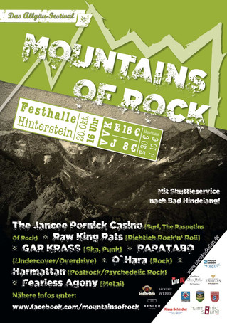 Plakat Mountains of Rock 2018