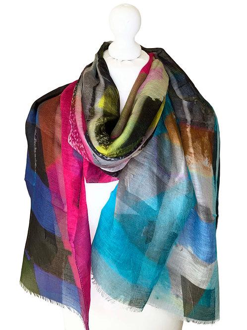Linen/model/silk scarf 5