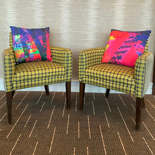 100% Organic Bamboo Bright Pink Cushion Pair