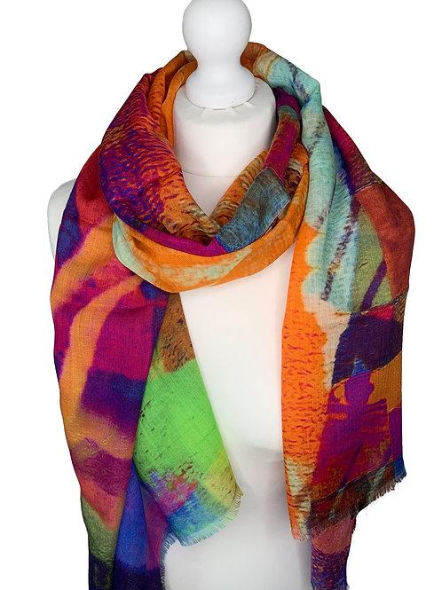 70% Wool 30% Silk Scarf 9