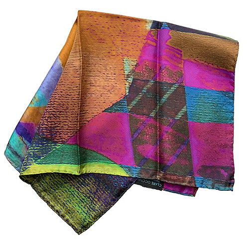 45X45cm 100% Silk Pocket Square 3