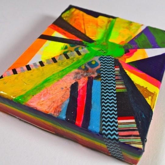 Small work on canvas for the Imago Mundi Collection #clareoconnordesign #clareoconnorartist