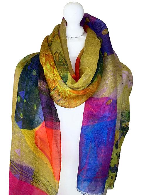 Linen/model/silk scarf 2