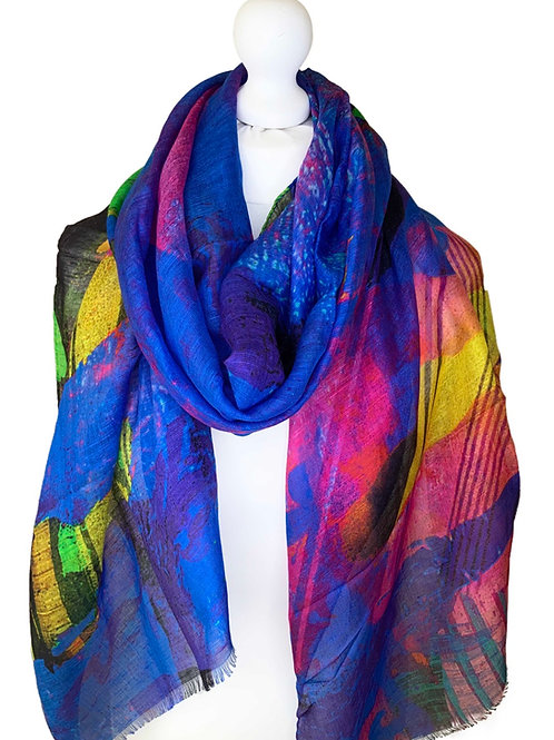Linen/model/silk scarf