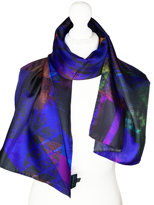 100% Silk Long Thin Scarf
