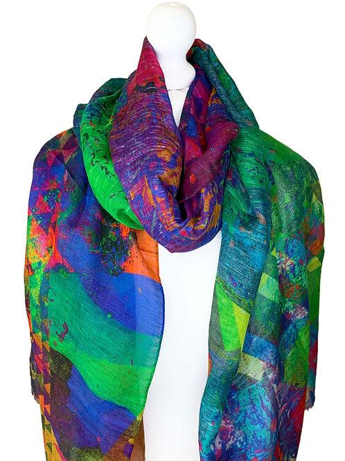 Linen/model/silk scarf 4