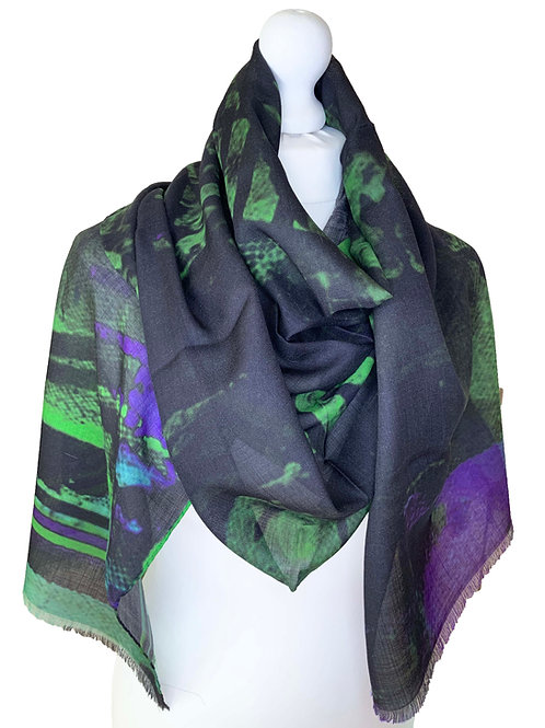 70% Wool 30% Silk Scarf 7